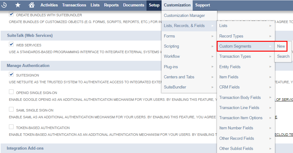 Uses Of Custom Segments and It's creation in NetSuite