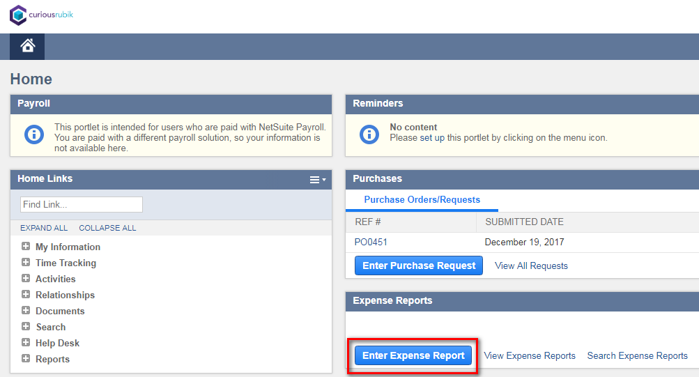 Steps to Create Expense Reports in NetSuite